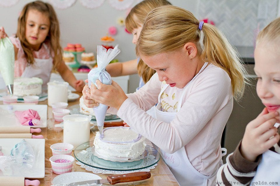 Cake Bake Shop Birthday Party for Girls | Five Marigolds