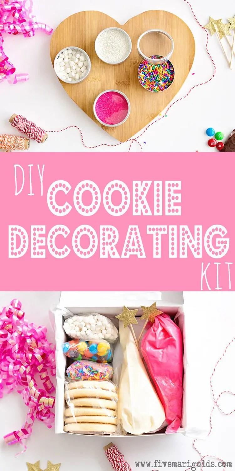 Great family gift idea: DIY cookie decorating kit. Include sugar cookies or gingerbread, frosting, and sprinkles. #MerryAndBright #ad