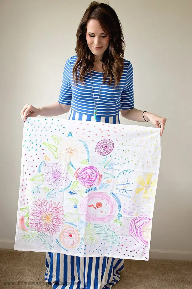 Homemade Mother's Day gifts: DIY watercolor tea towels