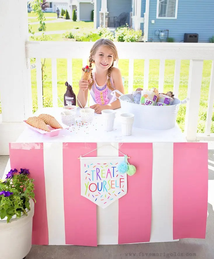 Easy DIY Ice Cream Stand | Simple Summer Nostalgia | Five Marigolds #yo2 #ad
