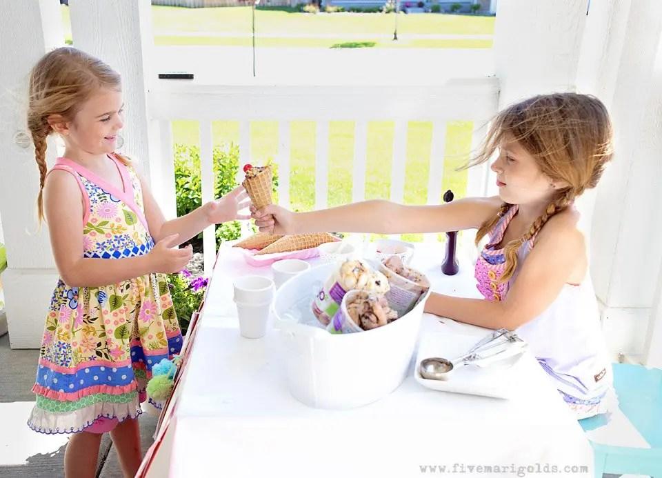 Easy DIY Ice Cream Stand | Simple Summer Nostalgia | Five Marigolds #yo2 #ad