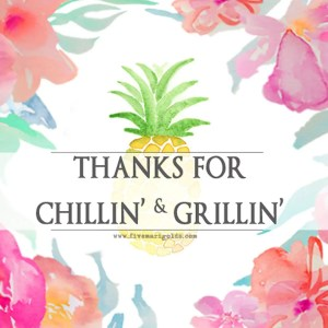 Chill and grill for a laid back summer barbecue. Free printable favor tags for sparklers.
