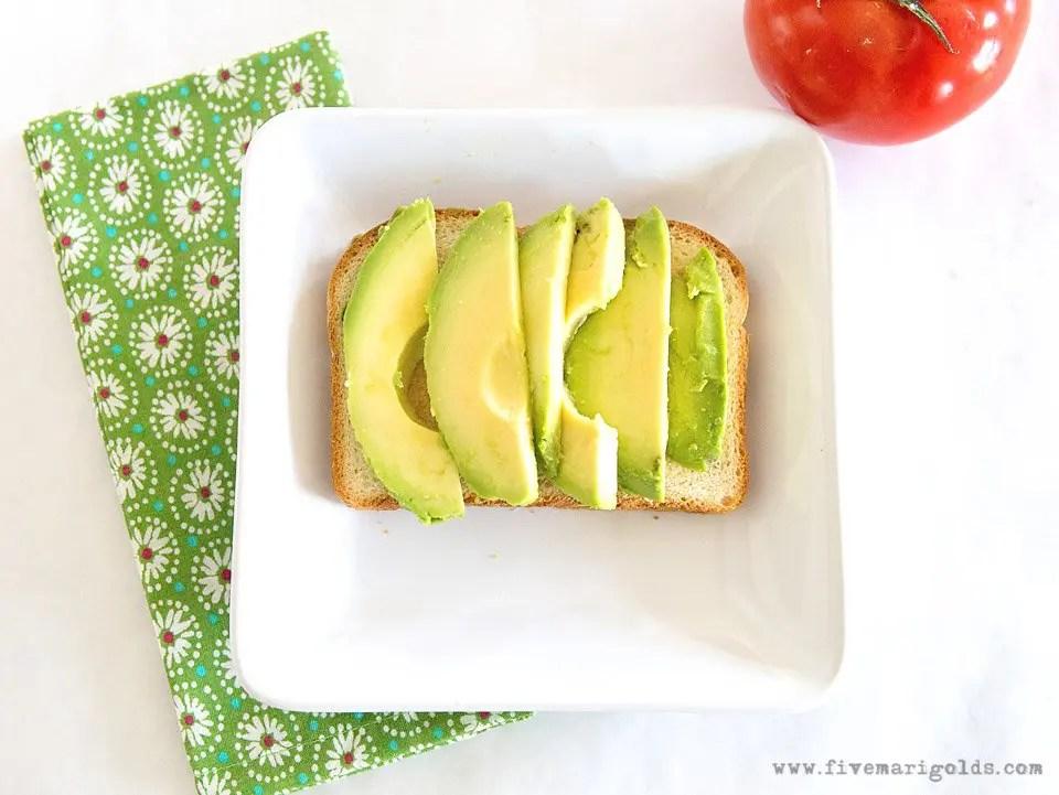 AVOCADO TOAST SANDWICH: Simple Sliced Sandwich   Five Marigolds