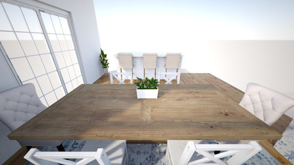 Updated neutral eat in dining room - One Room Challenge
