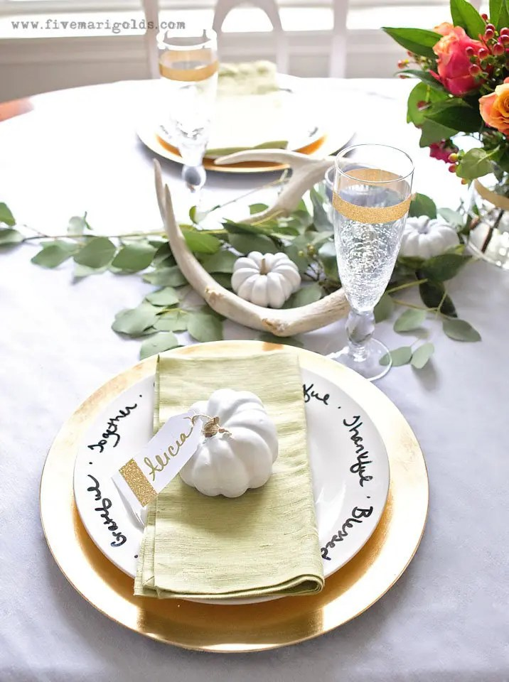 Affordable and Chic Thanksgiving Decor   Five Marigolds