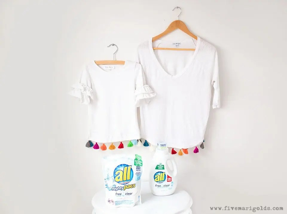 DIY No-Sew Tassel Tee | Five Marigolds