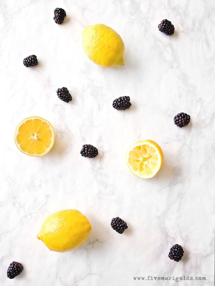 Spiked BlackBerry Lemonade Pina Colada Float | Five Marigolds