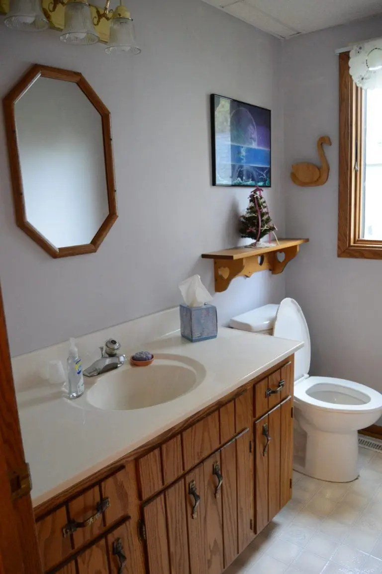 Contemporary Bathroom Remodel before and after | Five Marigolds