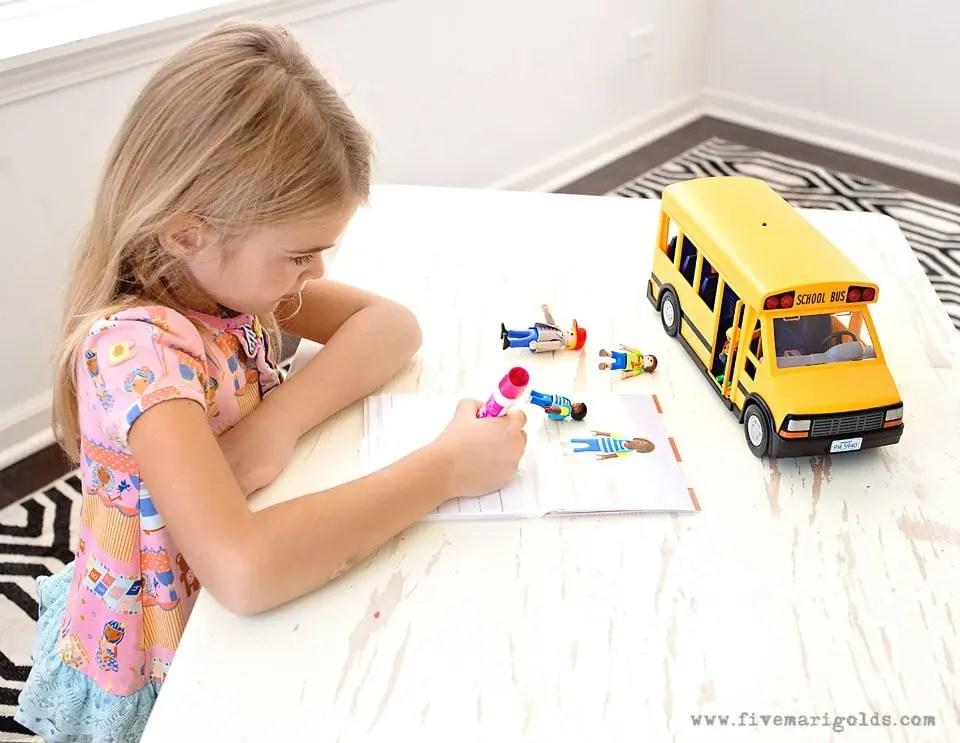 DIY Writing Skills Workbook Kindergarten Back To School