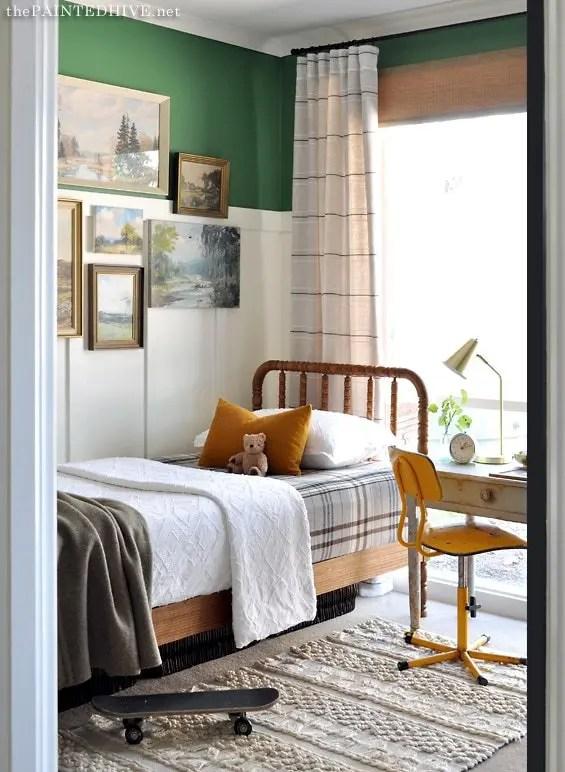 Vintage Boy Room small bedroom Makeover   Five Marigolds