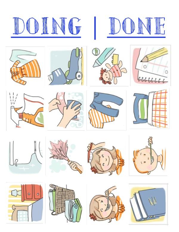 inexpensive easy chore chart