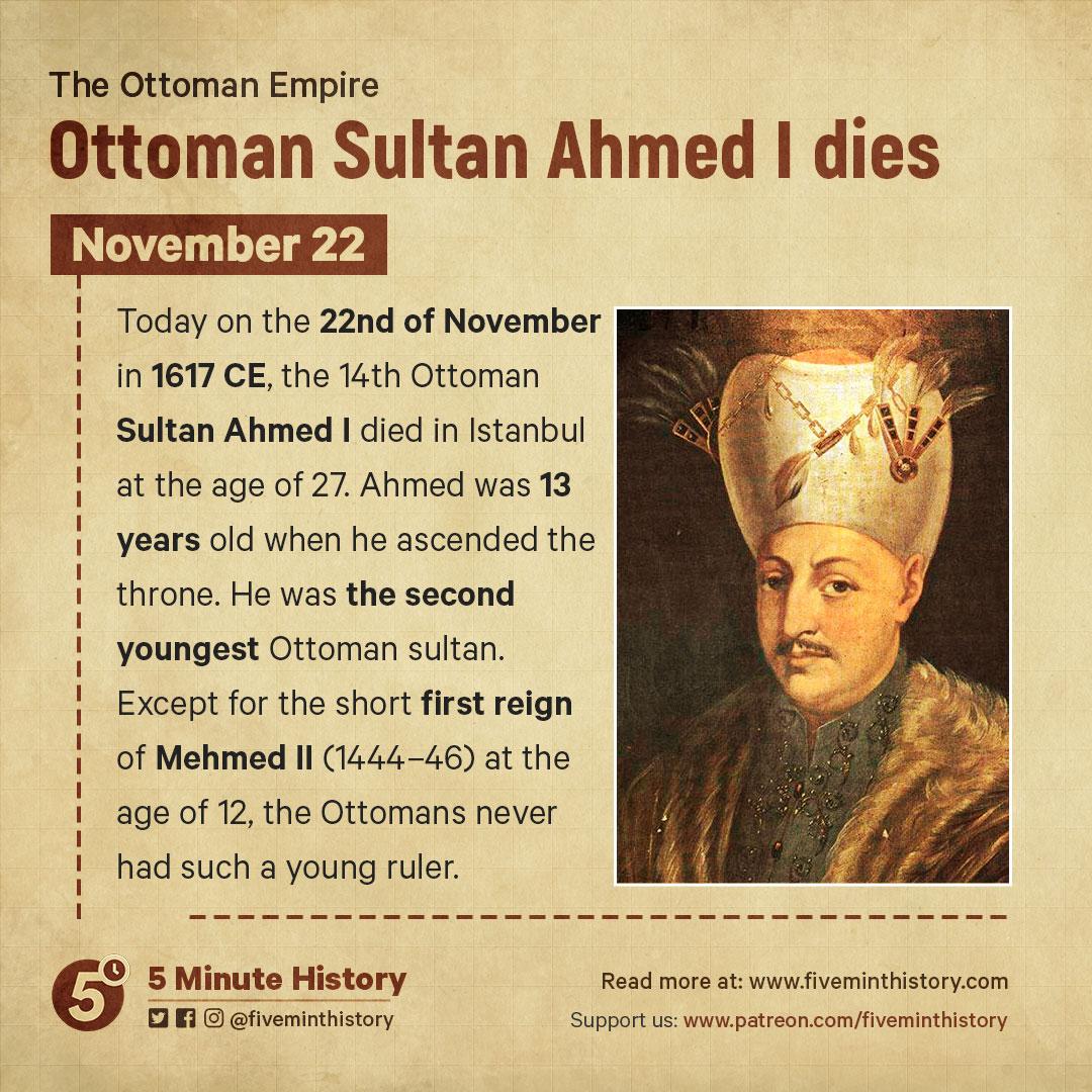 Ottoman-Sultan-Ahmed-I-dies