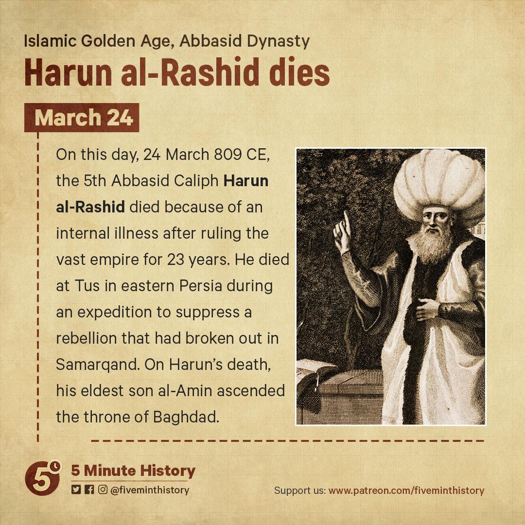 Harun al-Rashid dies