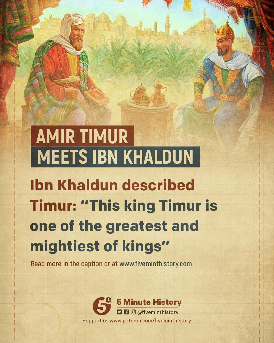 Amir timur meets ibn khaldun