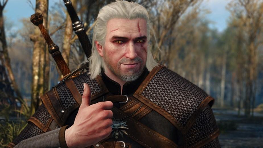 Geralt thumbs up