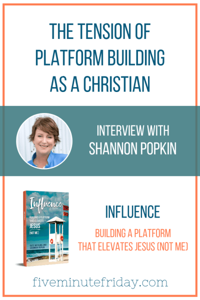 Pinterest graphic for interview with Shannon - 1