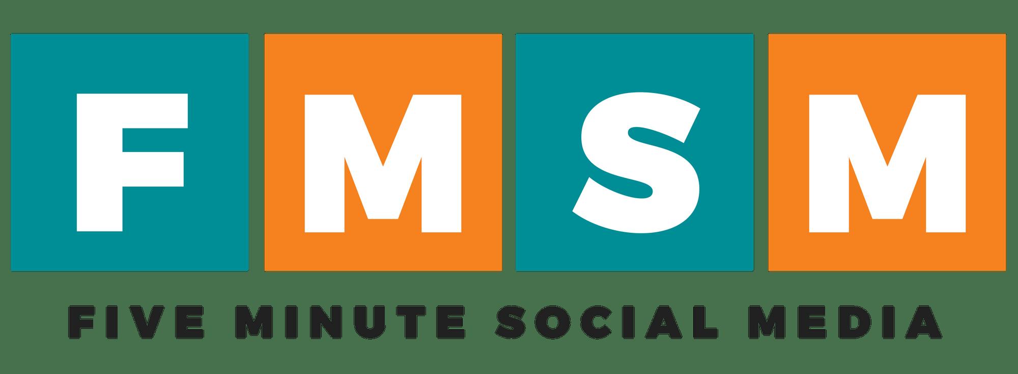 Five Minute Social Media Logo - Horizontal, Black