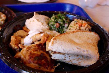 Chicken Shwarma at Tangerine Cafe in Morocco