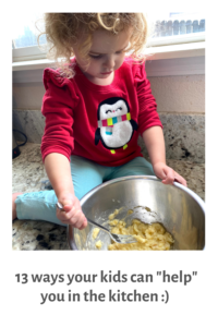 Tips for getting your kids involved in cooking dinner and baking treats. #cookingwithkids #bakingwithkids #healthykids #healthyfamily #cookingwithkidsteaching #cookingwithkidsdinner #kidsbakingideas #kidscooking #kidshelpinginthekitchen #cookingwtihtoddlers #bakingwithtoddlers