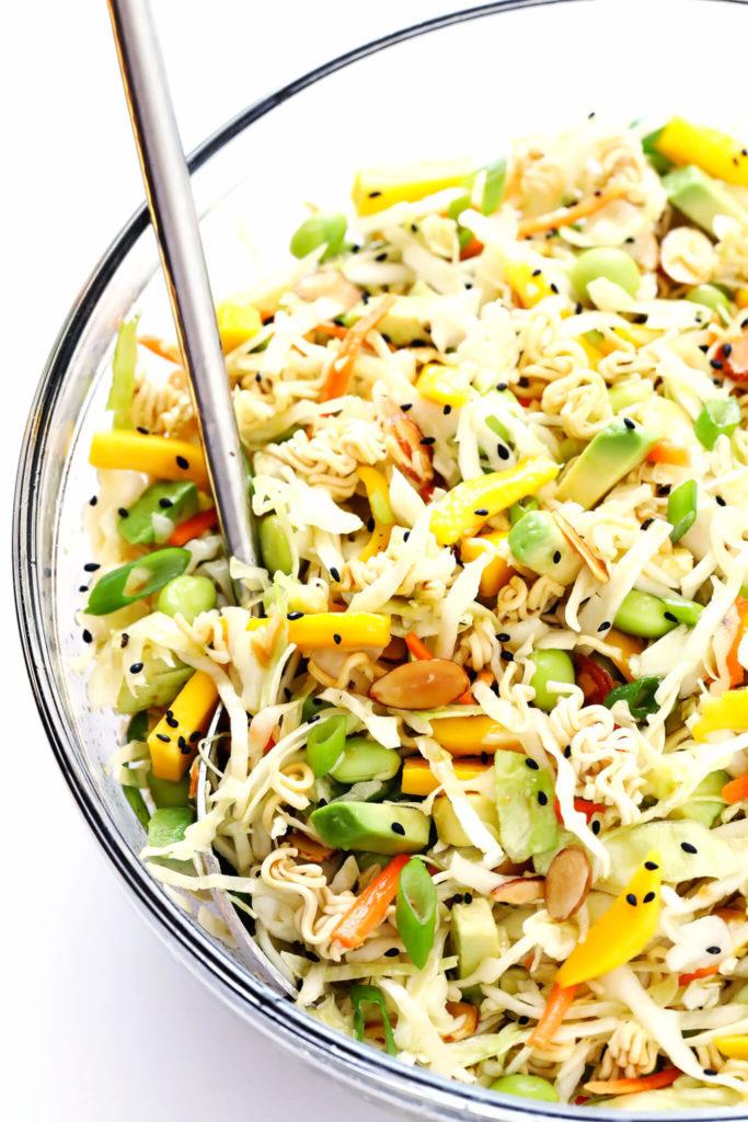 Dinner Idea: Crunchy Asian Ramen Noodle Salad. FivePlates.com