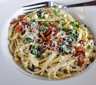 Best Spring & Summer Breakfast, Dinner, Dessert Recipes: Corn Pesto Pasta. FivePlates.com