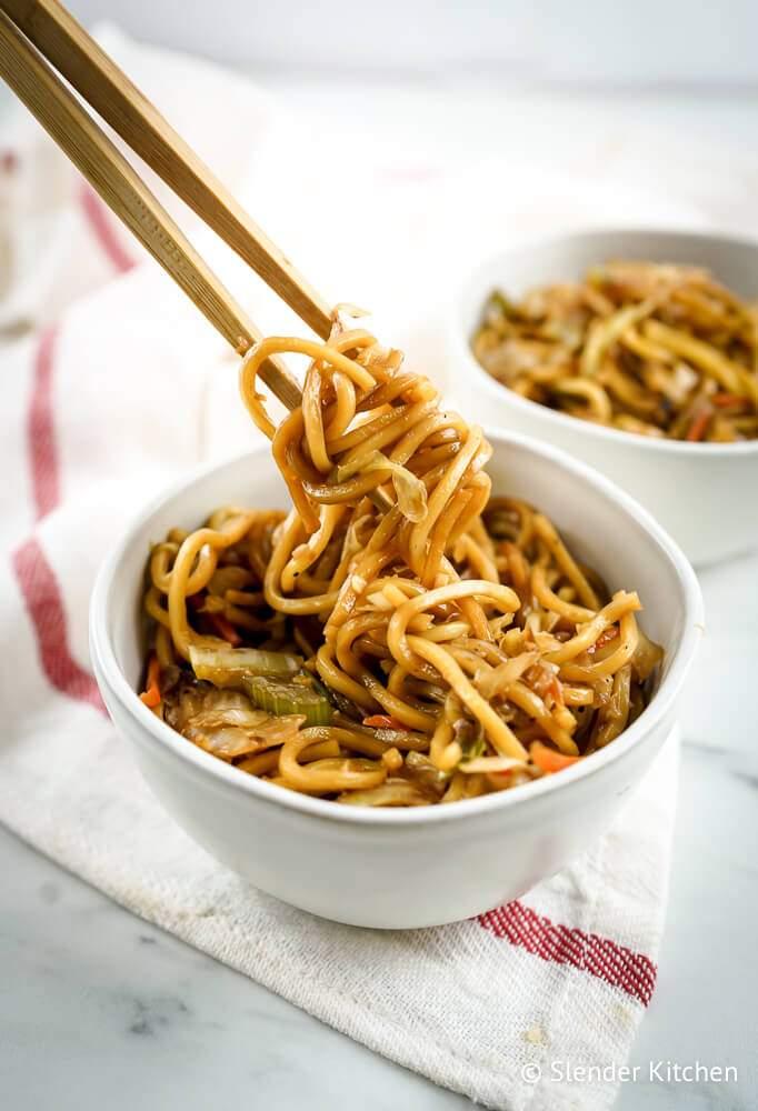 Healthy Chow Mein from Slender Kitchen