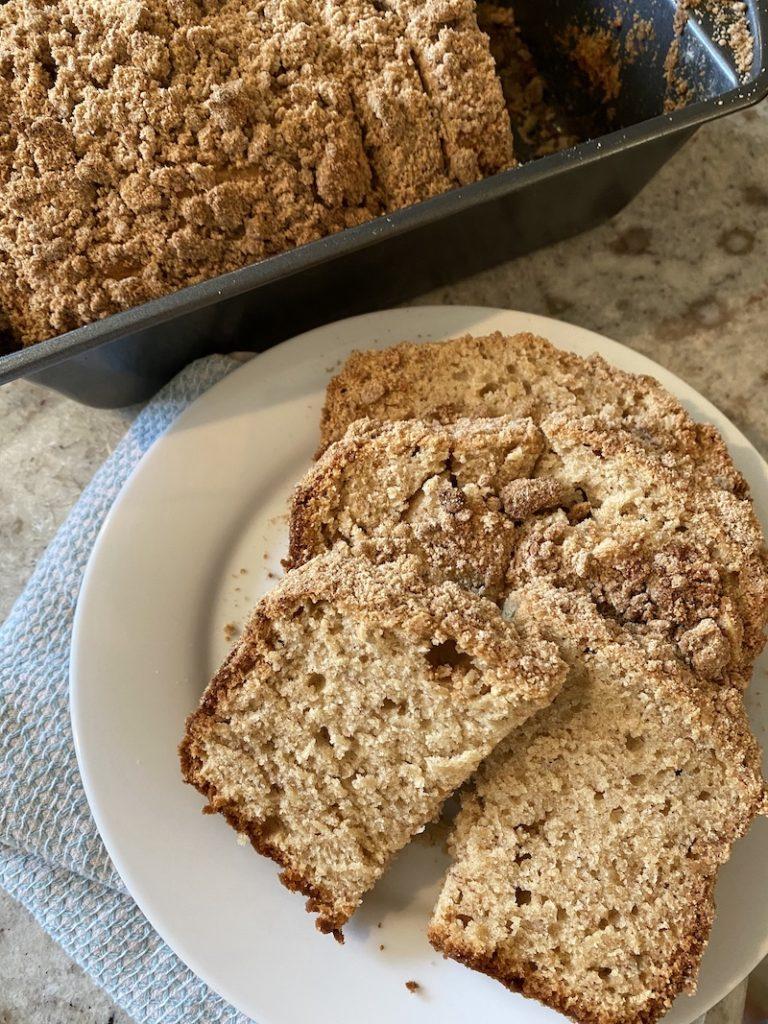 healthier moist banana bread with peanut butter brown sugar crumble recipe