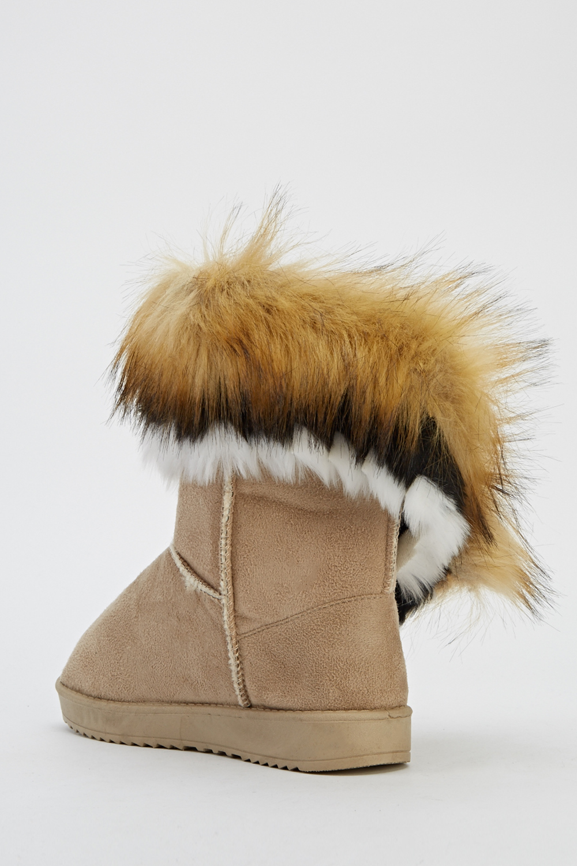 Faux Fur Ankle Boots  Just 5