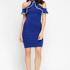 Kitchen Shoes Womens L Type Small Design Halter Neck Off Shoulder Dress - Black Or Coral Just £5