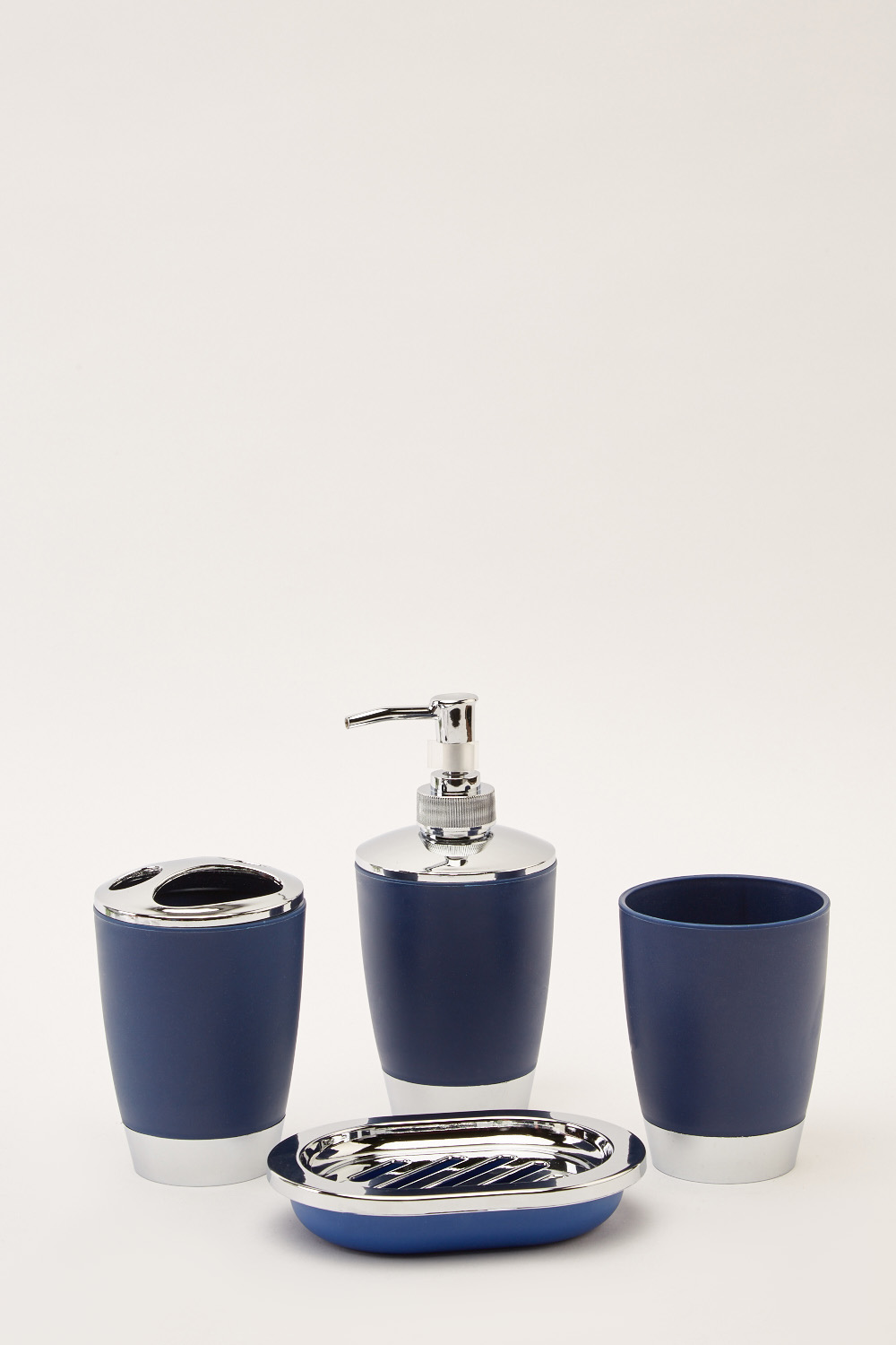 Blue Bathroom Accessories 4 Piece Dark Blue Bathroom Set Just 5