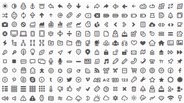 Free Icon Fonts - Eliminate unnecessary images