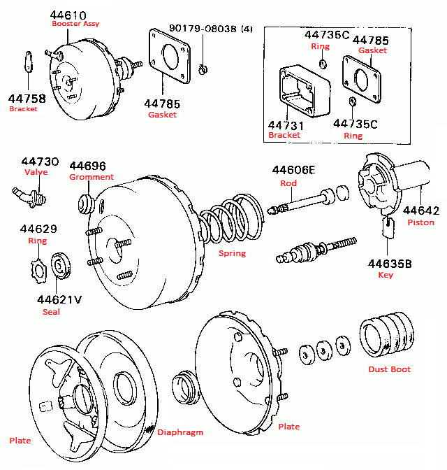 Mitsubishi brake booster