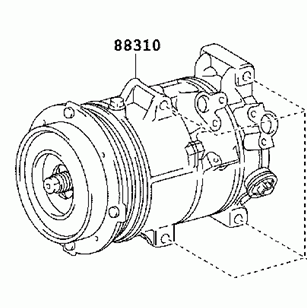 toyota AC compressor