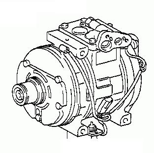Toyota Celica ST204 1993-1999 A/C Compressor 88320-2B250