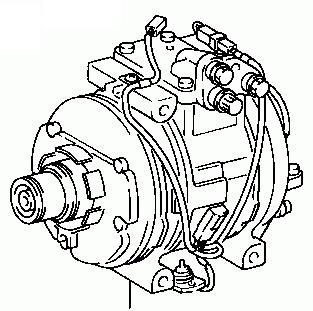 Toyota Celica ST185/ST184 1989-1993 Compressor Assy Cooler