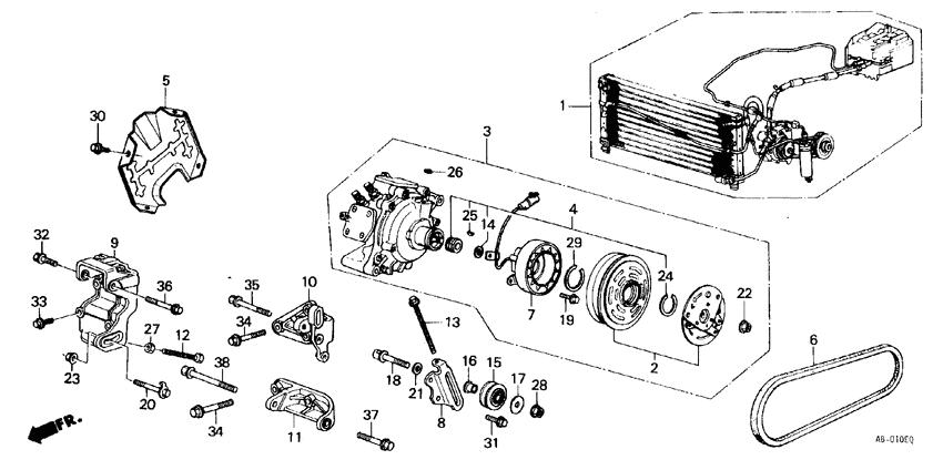 38800-PJ6-663 38800PJ6663 for Honda Prelude Ac Compressor
