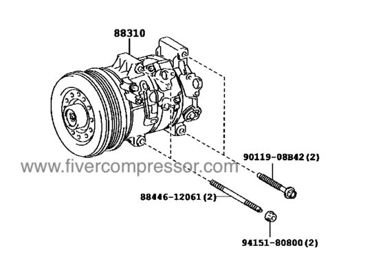 A/C Compressor for vehicle 88310-02680, 8831002680; 88310
