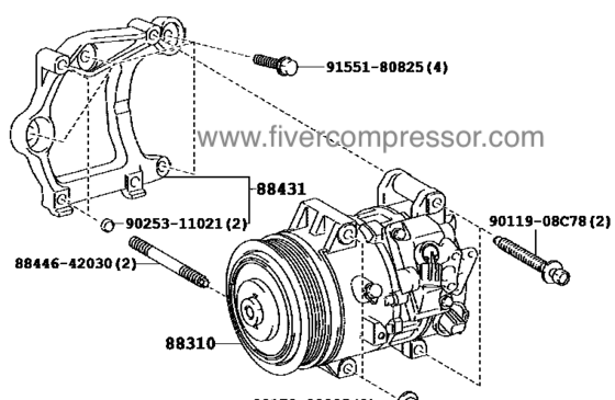 A/C Compressor for vehicle88310-42332, 8831042332;88310