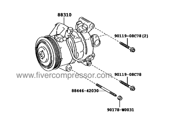 Compressor Assembly with W P88310-0D440, 883100D440VIOS