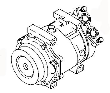 AC COMPRESSOR GDB1-61-450 BEV3-61-450A BBR4-61-450 MAZDA 3
