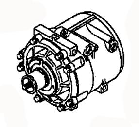 AC COMPRESSOR MB630355 MB630341 MITSUBISHI COLT/LANCER