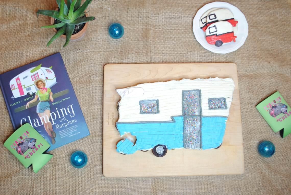 Vintage Shasta Camper pull away cake