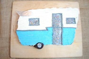 Vintage Camper pull away cake