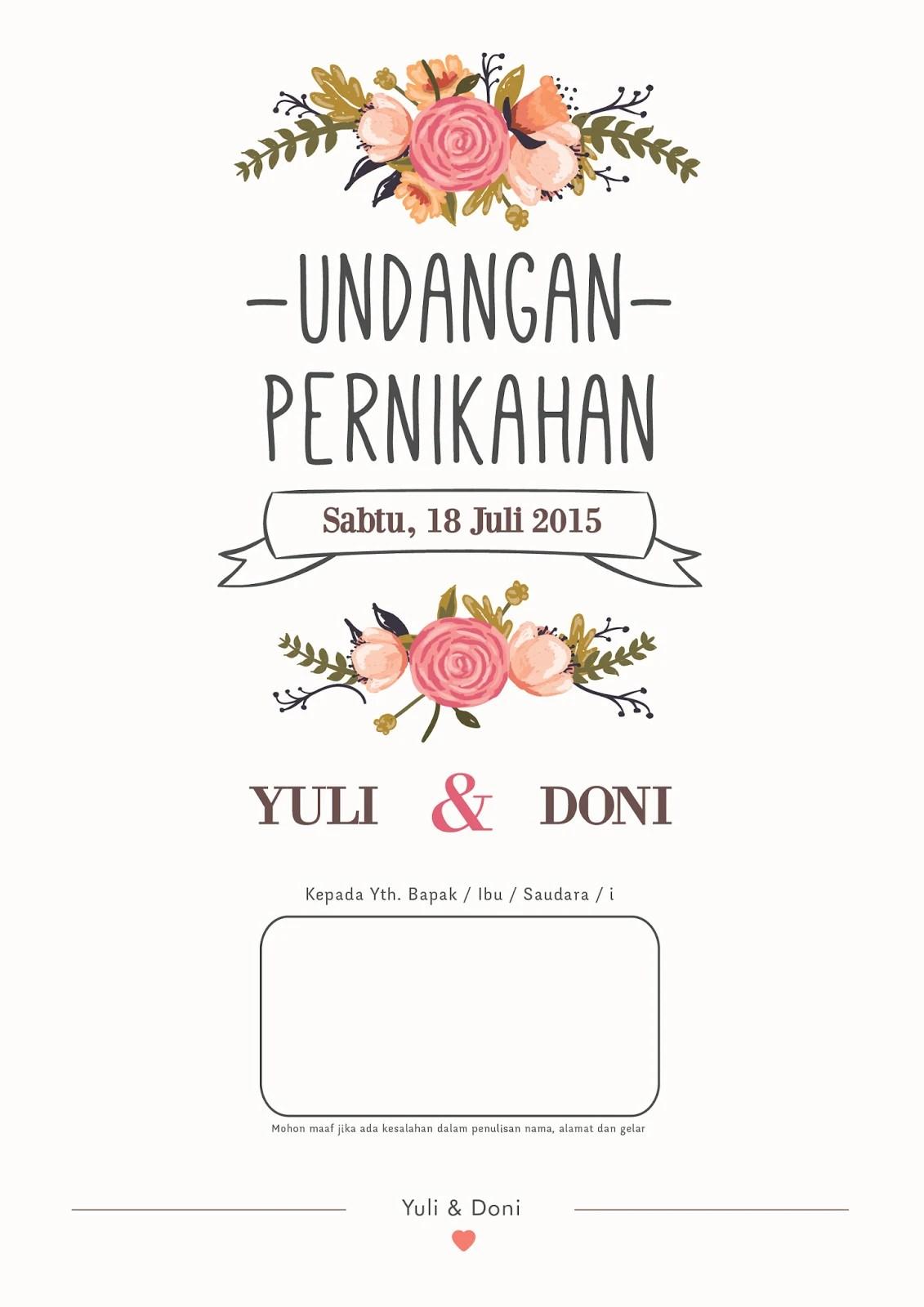 Format Nama Undangan Pernikahan : format, undangan, pernikahan, Design, Wedding, Invitation, Saptahanura