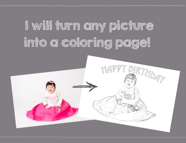 Turn any picture into a coloring page by Tadar25  Fiverr