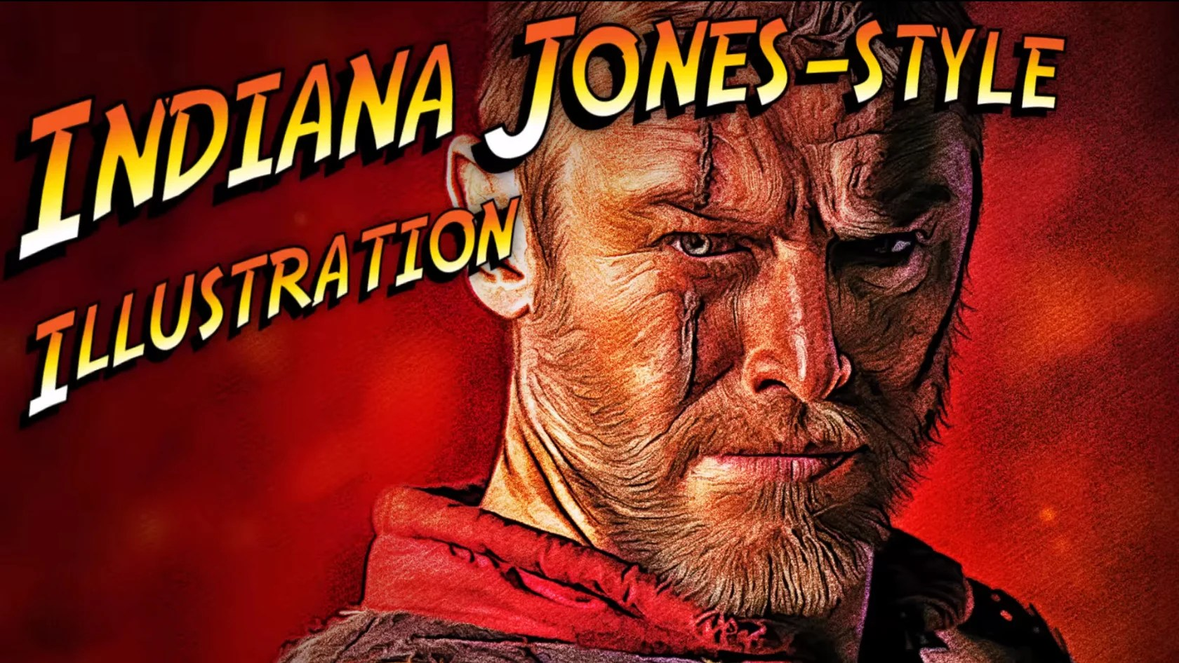 make indiana jones style movie poster