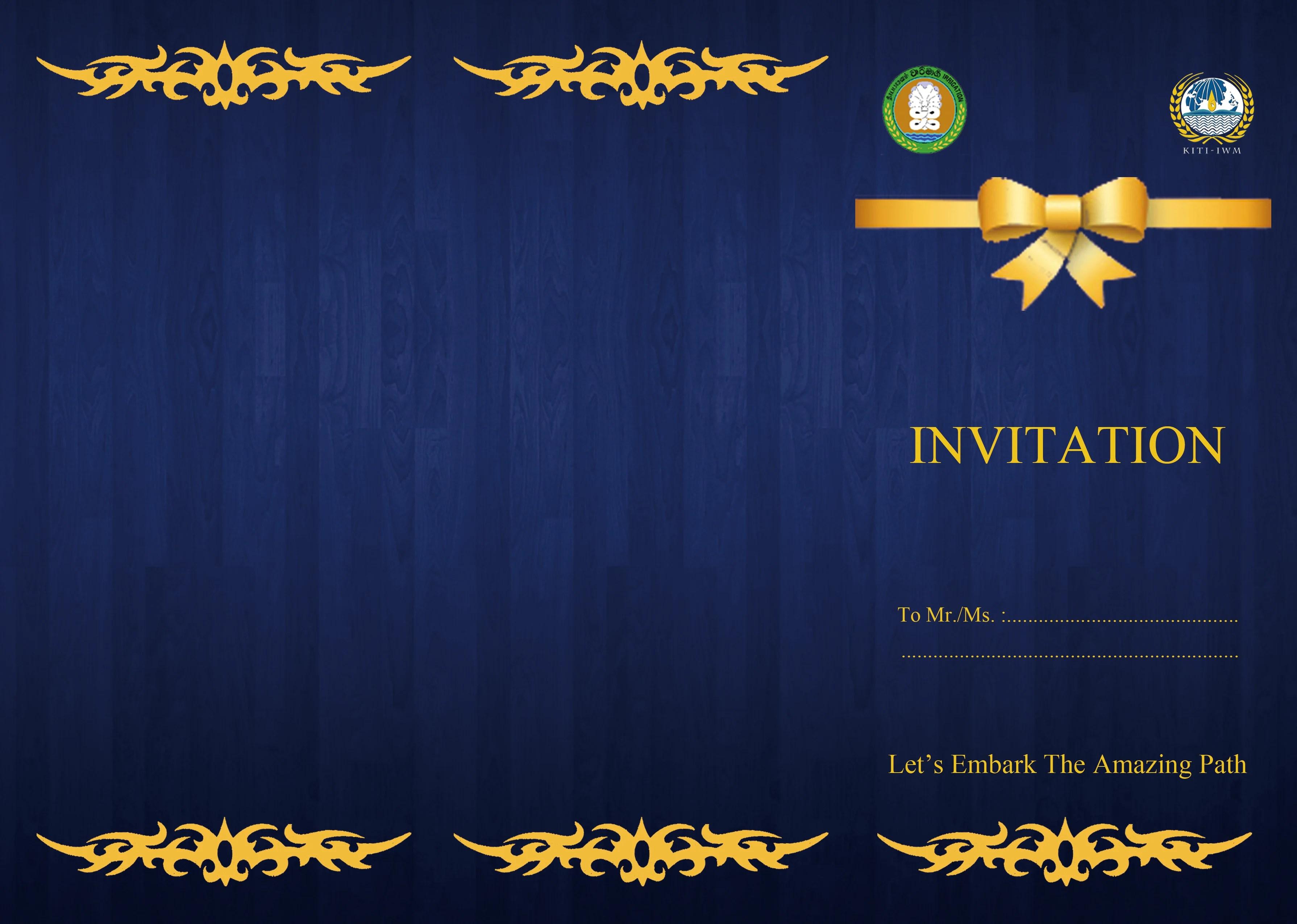 do invitation card design by winnerb92