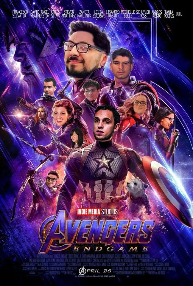 make an avengers endgame poster with your family and friends faces