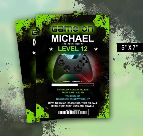 make a gamer birthday party invitation