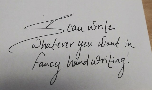 Write whatever you want in fancy handwriting by Tiabeavers  Fiverr